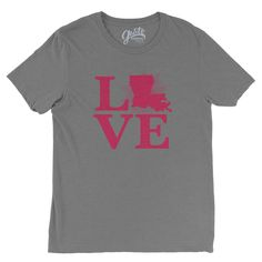 louisiana love t-shirt