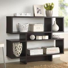 Baxton Studio Evelyn Dark Brown Modern Storage Shelf | Overstock.com Shopping - The Best Deals on Media/Bookshelves