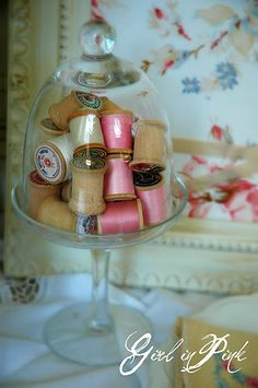 I have several of these cloches, this would be a lovely way to use them.