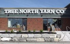 True North Yarn Storefront Ontario Cottages, Foot Shop, Knitting Books, True North, Store Fronts, Knitting Patterns, This Is Us, Knit Patterns, Cable Knitting Patterns