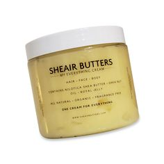 Shop `My Everything Cream,´ an all purpose head to toe healing balm, renown for its ability to smooth and fade everything from stretch marks to dark spots. Made with pure Nilotica Shea Butter, Royal Jelly, and Shea Nut Oil. Body Butter, Shea Butter, My Everything, Face And Body, Jelly, The Balm, Moisturizer, Fragrance