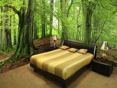 Ideas for wall art in bedroom, forest wall mural wall murals ...