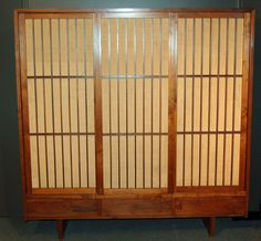 A Walnut Wardrobe/ Armoire  by George Nakashima | From a unique collection of antique and modern wardrobes and armoires at https://www.1stdibs.com/furniture/storage-case-pieces/wardrobes-armoires/