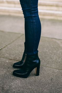 Denim, Leather & Lace - Gianvito Rossi Boots