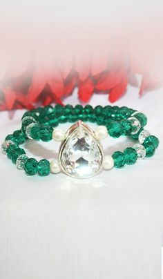 #Bangles, #Bracelets & #Kadas - Beaded Bracelet With Stone & Pearl Work Costs Rs. 375. #Jewellery. BUY it here: http://www.artisangilt.com/beaded-bracelet-with-stone-pearl-work-67104.html?ref=pin