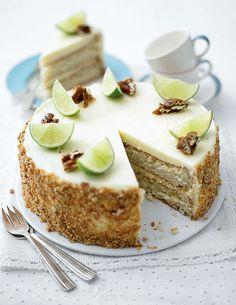 -- mojito genoise by Lorraine Pascale - perhaps the most incredible interpretation of moistness! Mojito, Baking Recipes, Cake Recipes, Dessert Recipes, Pie Cake, No Bake Cake, Cupcakes, Cupcake Cakes, Köstliche Desserts