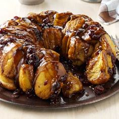Bread Machine Pumpkin Monkey Bread. This is really yummy! It was too much for the one bundt pan; I will try doing two next time. And it doesn't need to be a bundt pan, it can be just a regular tube pan. I used 1/2 cup of chopped pecans instead of cranberries.
