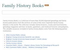 FamilySearch: they are quickly building up a large repository of free books...includes family history, genealogies, etc from the massive Family History Library