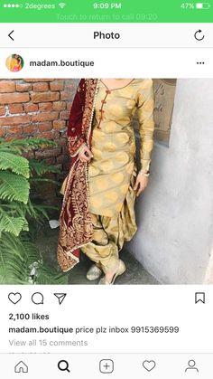 Punjabi Salwar Suits, New Punjabi Suit, Salwar Suits Party Wear, Designer Punjabi Suits, Punjabi Dress, Indian Designer Wear, Pakistani Dresses, Indian Dresses, Saree Dress