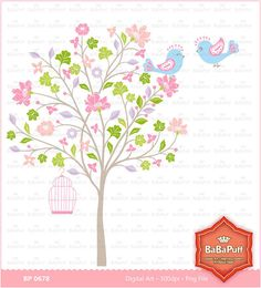 Blossom Tree Clip Art Wedding Invitations Personal and by BaBaPuff, $5.00