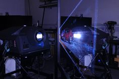 Sony SRXT110 projecting onto a IGI | PowerWall 4K destined for a automotive design studio.