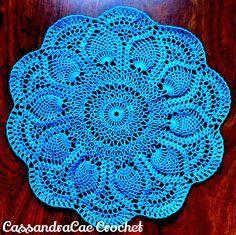Free Vintage Crochet Pattern Pink Pineapple Doily 1951 Star Book No. 87, Doilies, Doilies, Doilies.