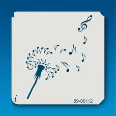 89-00112 Dandelion Musical Notes Stencil