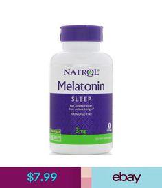 Sleeping Aids Natrol Melatonin 3Mg Nighttime Sleep Aid Vitamin B6 120 Tablets #ebay #Fashion