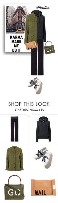 """""""karma made me"""" by theworldisatourfeet ❤ liked on Polyvore featuring FOOTPRINTS, Victoria's Secret, Uniqlo, Topshop, Anya Hindmarch, Akira and Hoodies"""