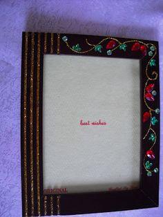 "Photo frame - ""gold, rubies & emeralds"""