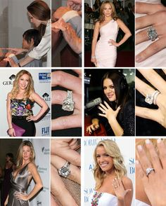 The Ultimate Celebrity Engagement Ring Slideshow | Pictures #celebrity #engagementrings