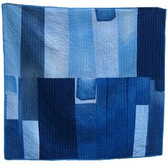 Denim Bar Quilt...I never imagined something this beautiful could have been made from denim.