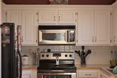 Divine Painting Kitchen Cabinets White Painting Kitchen Cabinets White And Kitchen Design Ideas For Small Kitchens With Pretty Arrangement Of Deluxe Ornaments In Your Home Kitchen 1 Kitchen Kitchen Hood Designs Ideas. Farmhouse Kitchen Design Ideas. Kitchen Remodel Design Ideas. | offthewookie.com