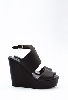 1bbe29f4ae2a Faux Leather Platform Wedges Types Of Shoes
