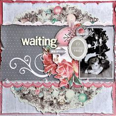 Kaisercraft DT - Silver Bells (My Happy Scrap Space) Christmas Scrapbook Layouts, Scrapbook Designs, Scrapbook Page Layouts, Scrapbook Pages, Scrapbooking Ideas, Smash Book Pages, Shabby Chic Christmas, Scrapbook Journal, Christmas Printables