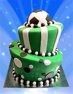 Soccer Cake I wish I could make this for my next birthday.