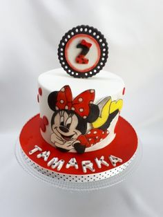 Minnie cake painted Torty od Kaliss