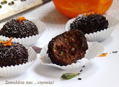 Tante Kiki: Σοκολάτα και νηστεία συνομωτούν κι ετοιμάζουν... τρουφάκια Greek Desserts, Greek Recipes, Cupcake Cookies, Cupcakes, Cake Recipes, Muffin, Treats, Vegan, Chocolate