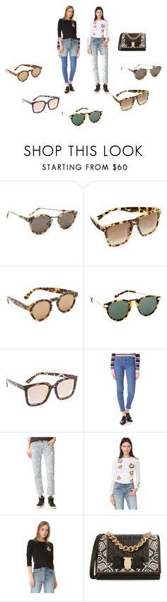 """Tortoiseshell  Sunglasses..**"" by yagna ❤ liked on Polyvore featuring RetroSuperFuture, Marc Jacobs, Illesteva, Karen Walker, Quay, M.i.h Jeans, NSF, Michaela Buerger, Salvatore Ferragamo and vintage"