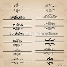 Vector: Large collection of ornate headpieces