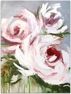 Peony Painting, Acrylic Painting Flowers, Abstract Flowers, Acrylic Painting Canvas, Flower Paintings, Rose Art, Flower Art, Creations, Vancouver Island