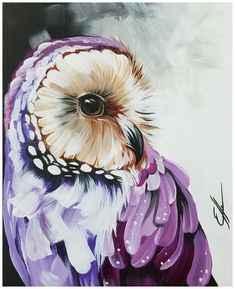 owl art painting * owl art ` owl artwork ` owl art drawing ` owl art projects for kids ` owl art painting ` owl art for kids ` owl art dark ` owl art artwork Acrylic Painting Inspiration, Acrylic Painting Canvas, Diy Canvas Art, Acrylic Painting Animals, Abstract Animal Art, Owl Artwork, Purple Owl, Art Deco Posters, Animal Paintings