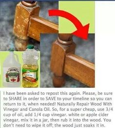 How to get scratches out of wood furniture.....