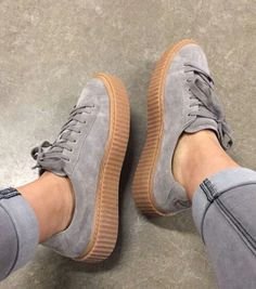 separation shoes 1e2c3 5b8c9 puma creepers by rihanna in grey ♡