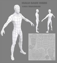 3d, base, big, boy, cartoon, character, game, handheld, human, layout, low, male, man, mesh, muscular, poly, sculpt, strong, uv