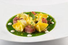Ravioli di mozzarella | L'Olivo Restaurant - Two Michelin Stars | Anacapri, Italy