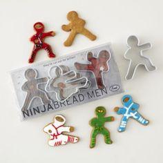 Ninja Breadman Cookie Cutters (Set of 3).