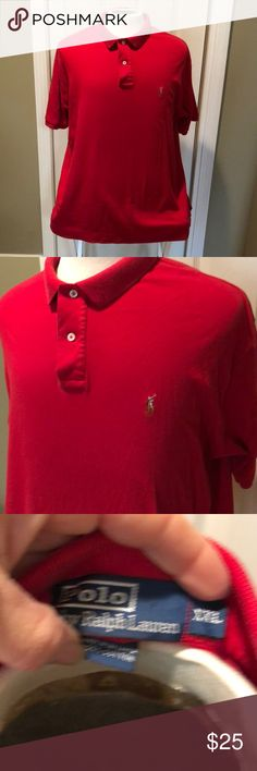 Men's Polo Ralph Lauren super soft red xxl shirt Men's Polo Ralph Lauren super soft red xxl shirt. Excellent condition.  Bundle and save! Polo by Ralph Lauren Shirts Casual Button Down Shirts