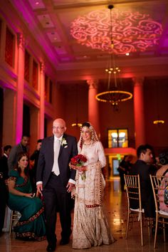 Check out the beautiful gobo lighting we did at this wedding! Its hard to not look at the stunning bride and her father. We love this photo! Floral Design, Father, Bride, Studio, Lighting, Check, Wedding, Beautiful, Pai