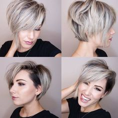 "4,111 Likes, 32 Comments - Balayage Boston Blogger (@imallaboutdahair) on Instagram: ""Who Absolutely Loves when I post all angles of Short Hair cut??. It gives you options to repeat…"""