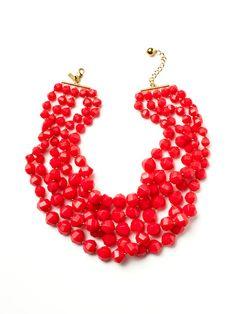 Kate Spade, Magenta Multi-Strand Bib Necklace - gorgeous!
