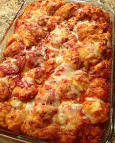 Bubble up pizza casserole. Revamp crust or just leave out and low carb friendly.