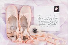 4f60bd7066bd52 Ballet Wedding Inspiration - Pantone 2016 Rose Quartz   Serenity