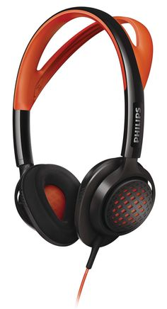 Philips On-Ear Sports Headphones - Orange and Black. Best Over Ear Headphones, Best Workout Headphones, Cheap Headphones, Sports Headphones, Bluetooth Remote, Philips, Fun Workouts, Headset, Orange Grey