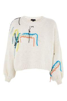 Undone Embroidered Jumper