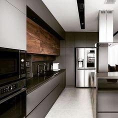 Modern Home Interior Design to Your Kitchen Design Loft Kitchen, Kitchen Room Design, Luxury Kitchen Design, Contemporary Kitchen Design, Kitchen Cabinet Design, Luxury Kitchens, Home Decor Kitchen, Home Kitchens, Contemporary Style