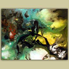original abstract painting 22 x 28 inch Mattsart