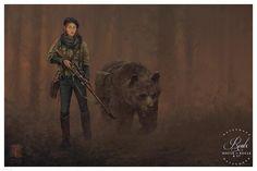 "Anna and Wojtek - Iron Harvest • Illustrated by Jakub ""Mr. Werewolf"" Rozalski•Archival pigment print•Printed on Hahnemühle Fine Art Baryta 325 GSM fiber pap"