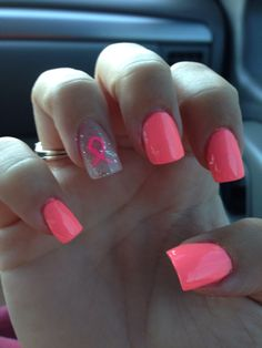 Breast Cancer awareness nails !