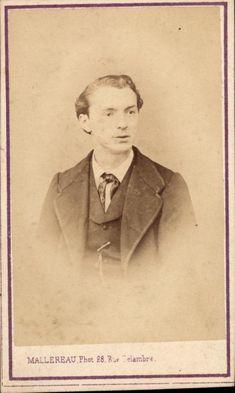 CDV portrait homme veste gilet cravate Mallereau Paris vers 1875
